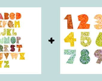 Numbers + Alphabet Pair of Prints