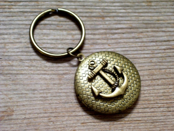 Brass Pendant Locket Key Ring