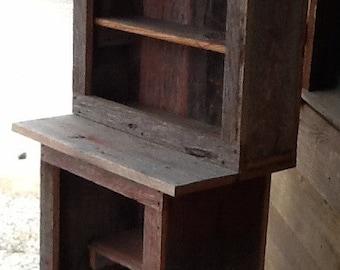 Primitive Barnwood Cupboard