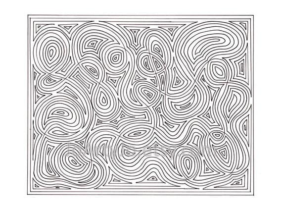 Mindfulness Zendoodle Coloring Page PDF Page 65 Printable