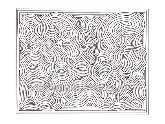 Mindfulness Coloring Pages Pdf : Mindfulness zendoodle coloring page pdf printable