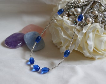 Beaded Necklace - Royal Blue
