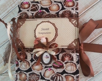Handmade scrapbook album - homemade desserts