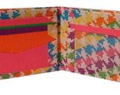 Rainbow Houndstooth Duct tape Wallet, Rainbow Houndstooth Wallet,Rainbow, Duct Tape Wallet, Women's Wallet, Custom Wallet, Handmade