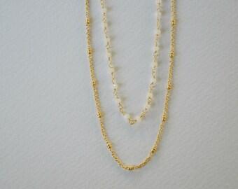 Ankara Double Strand Necklace