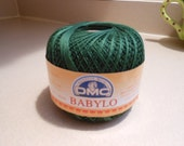 DMC BABYLO crochet thread size 10...deep deep forest green