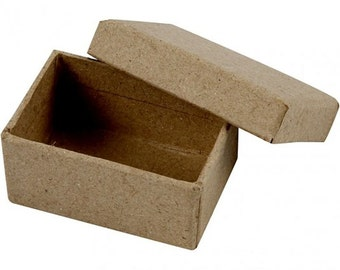 Small Box with Lid - Plain Strong Cardboard - Mini Craft Decorate Present Gift Jewellery