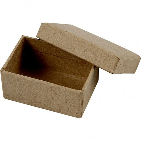 Small box with lid plain strong cardboard mini craft for Craft boxes with lids