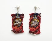 Magically Mini Wise Cheese Doodles Chip Bag Dangle Earrings