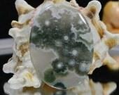 Ocean Jasper 39.7x29.7x5.2mm Natural Gemstone Cabochon Jewelry Supplies Ocean Jasper