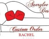 Custom order for 2 ottoman covers