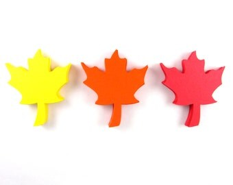 Maple Leaf Paper Cut Outs set of 25