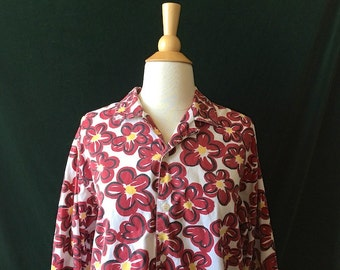 Vintage Esprit Red Flower Shirt