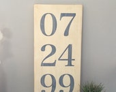 ON SALE Hand Painted Anniversary Date Sign.  Distressed Painted Sign. Custom Sign. Wedding Date. Wood Sign.