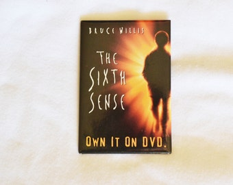 Bruce Willis The Sixth Sense Movie Promo Pinback Button, Collectable pin, Item No. M118