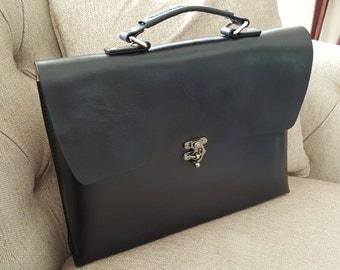 "Leather Briefcase ""The Teddy Bear"""