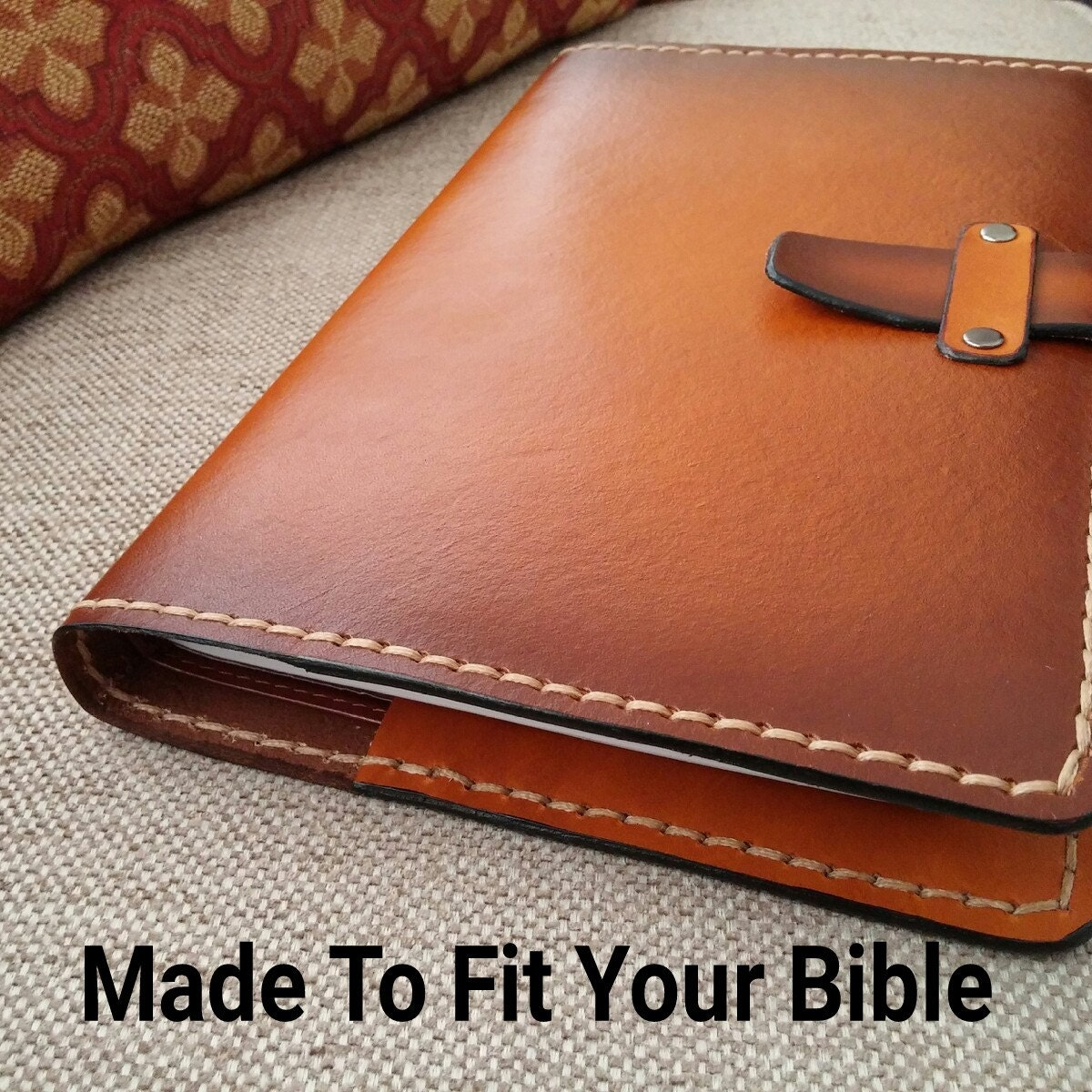 handmade leather bible covers custom handmade leather bible cover in saddle w sunburst 5549