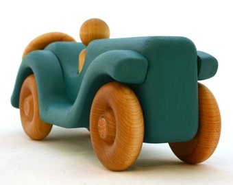 Ocean Blue Toy Car