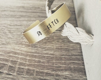 """So Fetch cuff """"mean girls"""" quote stamped bangle gold"""