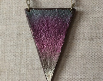 Fall 2016 Necklace, Hip Mama triangle Pendant, For mom, Long Modern Necklace, Simple layered jewelry