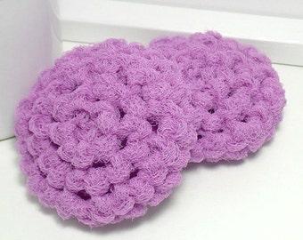 Lilac Dish Scrubbies - Crochet Scrubbies - Eco Kitchen - Dish Scrubber - Hand Crochet Set of 2 - Crochet Dish Scrubbies - Gifts Under 10