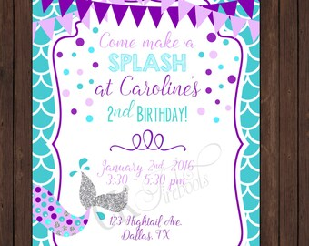 Mermaid Birthday Invite