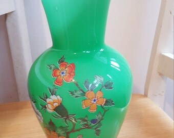 Tuscany glass vase made in italy