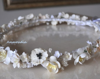 Rustic wedding wreath - Wedding wreath- wedding crown - bridal hair accessories -