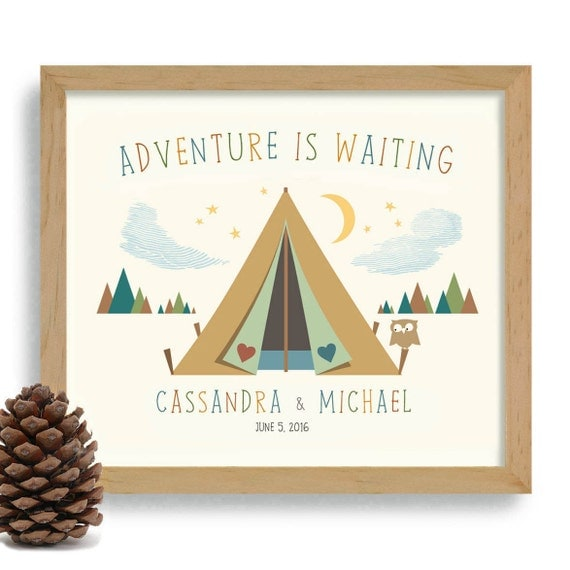 Wedding Gift Ideas For Nature Lovers : Tent Nature Lover Gift Adventurous Couple Personalized Wedding Gift ...