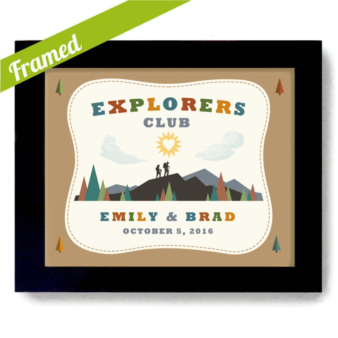 Wedding Gifts For Adventurous Couples : Explore Dream Discover Wedding Gift Outdoor Lovers Unique