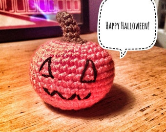 Super Quick and Easy Amigurumi Crochet Pumpkin for Halloween - Pattern Only