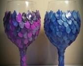 Custom Order for Beth - 2× Wine Glasses