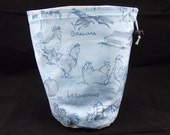 SALE R Project bag 73 blue chickens