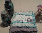 Splash Elephants Baby Quilt Blanket with Minky Backing