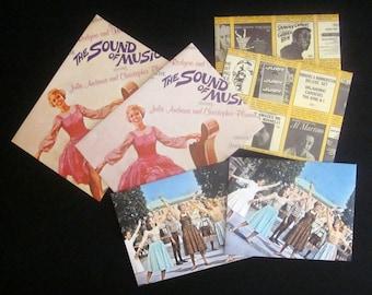 Set of 4 Handmade Envelopes Vintage The Sound of Music Soundtrack Plus 2 Bonus!