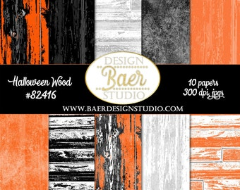 SHABBY CHIC Digital PAPER,:Wood Digital Paper, Black Orange Wood Digital Paper, Digital Paper Halloween, Halloween planner paper, #82416