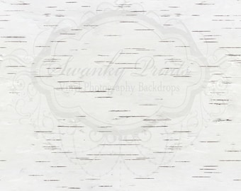 SWANKY PRINTS 2ft x 2ft Vinyl Photography Backdrop / Birch Tree Texture / NEW / Product Size