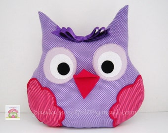 Owl pillow for room decoration