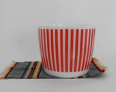 Hazel Atlas Red and White Candy Stripe Ice Bucket