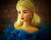 Sold Out On Ebay Cinderella Doll See On YouTube Lily James Repaint Barbie Inspired Cinderella Movie