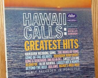 Webley Edwards - Hawaii Calls: Greatest Hits - Capitol Records ST 1339 - Vintage 33 1/3 LP Record - 1960