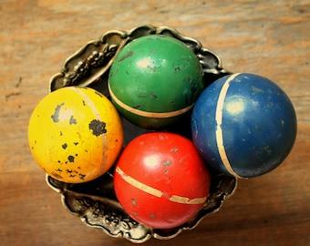 vintage croquet balls--instant collection