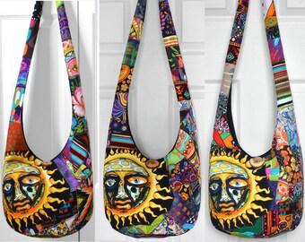MADE TO ORDER Hobo Bag Crossbody Bag Sling Bag Hippie Purse Patchwork Crazy Quilt Boho Bag Bohemian Purse Sublime T-Shirt Patchwork