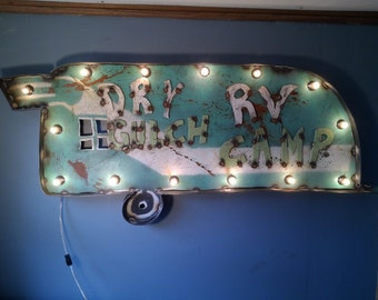 RV park Sign - light up marquee - RV decor - custom signs available
