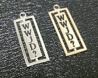 Sterling What Would Jesus Do Pendant - Your Choice