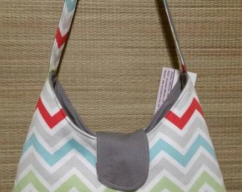 Chevron multicolor purse