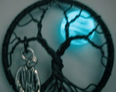 Night Glowing Blue Moon Tree of Life, The Walking Dead Under a Glowing Blue Moon