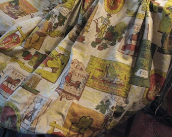 2 Pair Great Americana Vintage Curtains with Valances. What Fun!
