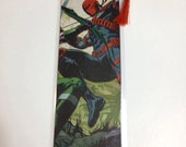 Upcycled Deathstroke Comic Book Bookmark