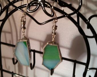 Tiffany Glass Free Form Earrings